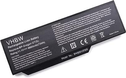 vhbw Li-Ion Akku f r Medion Akoya E8410  P7610  P8610  P8611  P8612  P8614 Notebook Laptop wie BP-Dragon GT S   40019327  MIM2070  6600mAh  11 1V