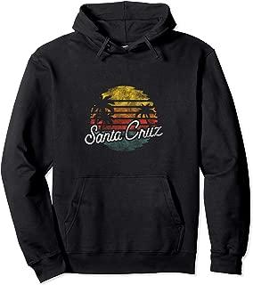 Santa Cruz Vintage Retro Surfing Coastal Pullover Hoodie