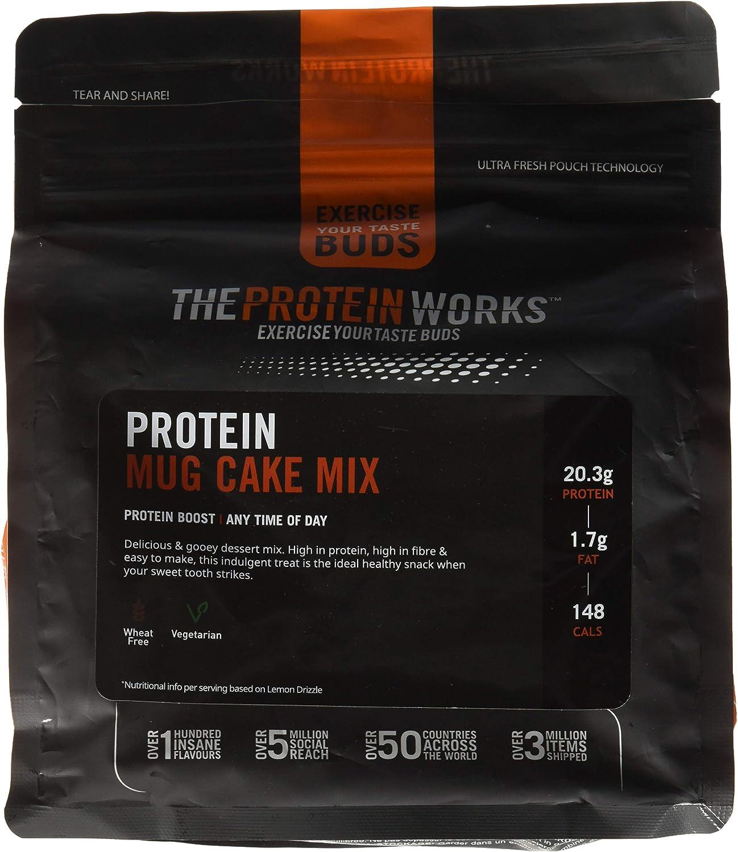 Mug Cake Proteico | Alto en Proteínas, Snack Bajo en Azúcar | Saludable, Se Hace en 30 segundos | THE PROTEIN WORKS | Chocolate Cremoso | 500g