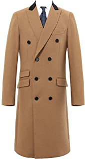 mens double breasted cashmere overcoat