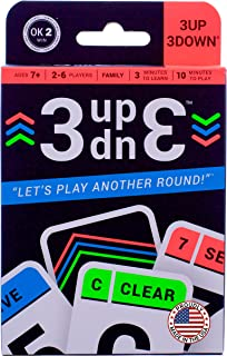 Ok2Win 3UP 3DOWN Card Game   Best Fun Family Games for Kids, Teens, Adults   2-6 Players/Deck ● Up to 12 Players with 2 Decks ● Make Road Trips, Camping, Beach Time, Summer Camp, Family Time Exciting