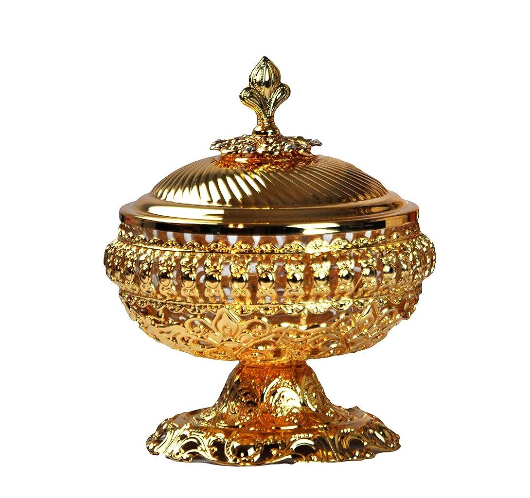 雑多な明らかにするセラフDecorative Bowl to keep hold整理Arabia Bakhoor、チャコール、Oudチップ、Oud Wood、Oudhタブレット、 9inc. シルバー
