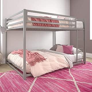 DHP Miles Metal Full, Silver Bunk Bed
