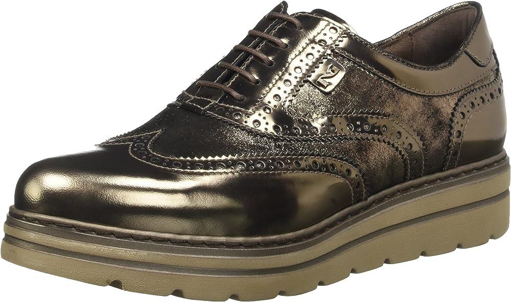 Nero giardini scarpe stringate donna in pelle A719396D 101