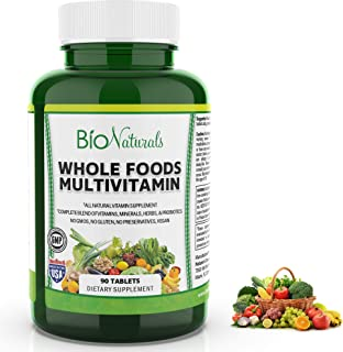 Bio Naturals Whole Foods Multivitamin For Men & Women with 100+ Nutrients – Vitamins A B C D E, Minerals, Herbs, Omega 3, ...