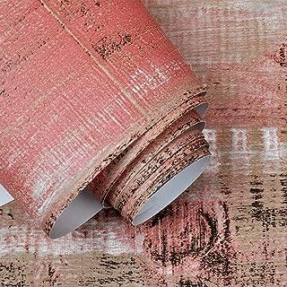 Crazy Cart Retro Red Imitation Wood Grain Wallpaper For Home Bar Wall Decoration 20.8