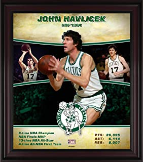 """John Havlicek Boston Celtics Framed 15"""" x 17"""" Hardwood Classics Player Collage - NBA Player Plaques and Collages"""