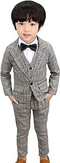 (コ-ランド) Co-land 男の子 スーツ 3点セット フォーマル 子供服 チェック柄 長袖 ボーイズ 紳士服 ジュニア 入学式 卒業式 七五三 結婚式