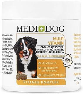Medidog Vitamin B komplex för hundtabletter, med multivitaminformel hud + päls biotin, folsyra, inositol, kolin, pantensyr...