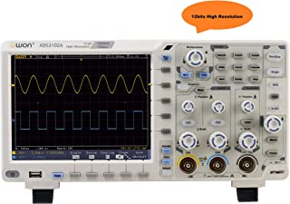 OWON XDS2102A oscilloscope 12bits high resolution 100MHz bandwidth, 1GS/s sample rate 55,000 wfms/s refresh rate standard ...
