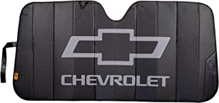 Plasticolor 003864R01 Logo Black Matte Finish Car Truck or SUV Front Windshield Sunshade Compatible with Chevrolet