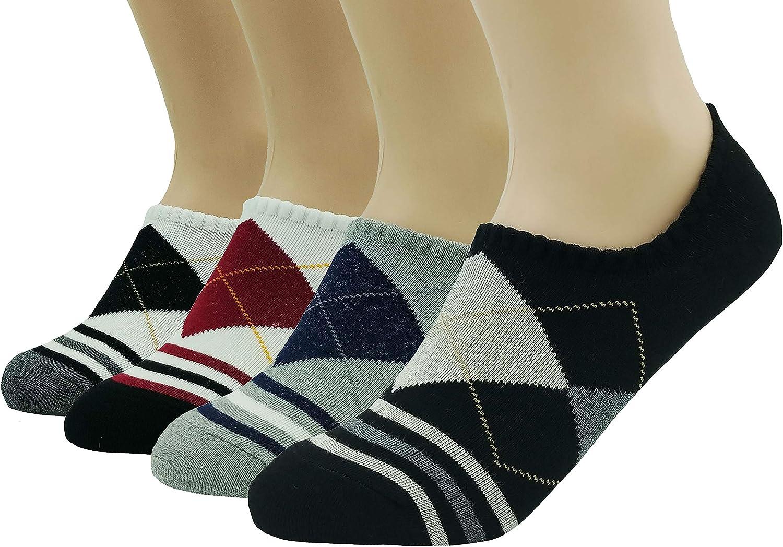 JJMax Women's Everyday Basic Cotton Blend Argyle Comfort Socks