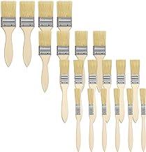 Kurtzy Pinceaux Peinture 5,08 cm, 3,81 cm, 2,54 cm et 1,27 cm (Lot de 48) - Pinceau Peinture Plat Professionnel avec Manche en Bois - Peinceaux Pour Peinture Murale, Vernis, Colles et Bricolage