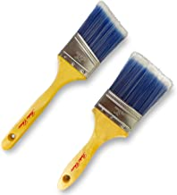 Bates Paint Brushes- 2 Pcs (3-Inch, Angle 2.5-Inch) Treated Wood Handle, Paint Brushes For Wall, Trim Paint Brush, Angle Sash Paint Brush, Premium Paintbrush, House Paint Brushes, Stain Brush