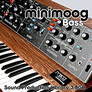 Minimoog Basss The King of Analog Sounds - Reproductor de música portátil (24 bits, WAVE/contacto multicapa, library on DVD o download)