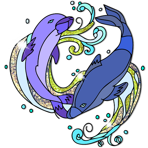 Dolphins Color By Number - Fish Col…
