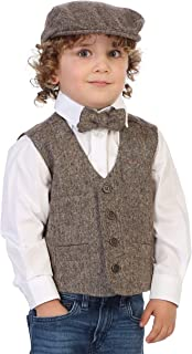 Boy's 3pc Tweed Vest with Matching Cap and Bow Tie