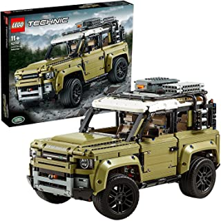 LEGO 42110 Technic Land Rover Defender Off Road 4x4 Car, Exclusive Collectible Model, Enhanced Building Set