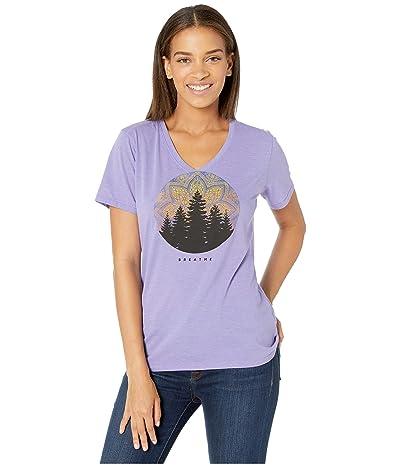 Life is Good Mandala Landscape Cool Vee (Moonstone Purple) Women