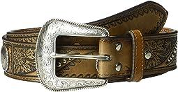 Nocona Emboss Belt w/ Studs & Conchos