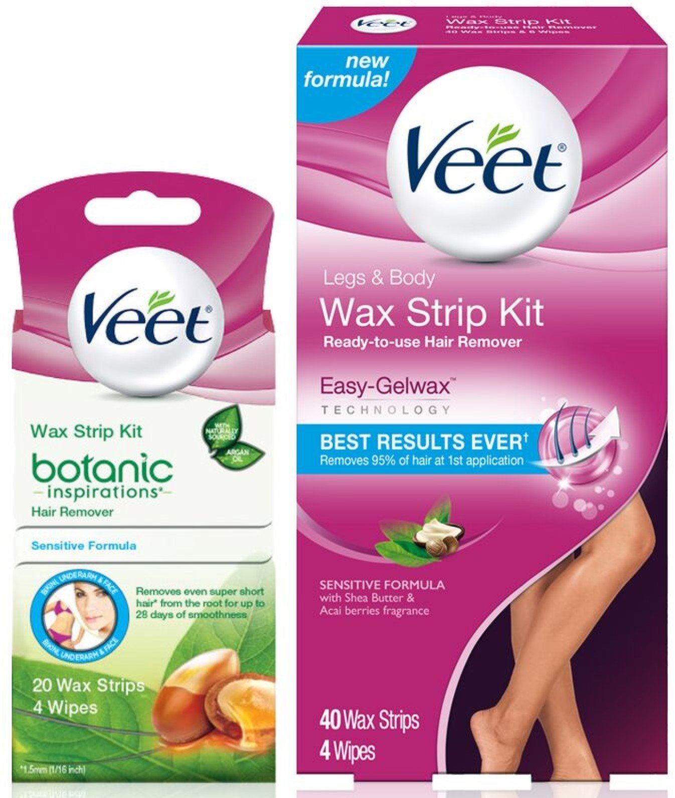 Hair Removal Kit Veet Leg Body Wax Strip Kit 40 Ct Veet