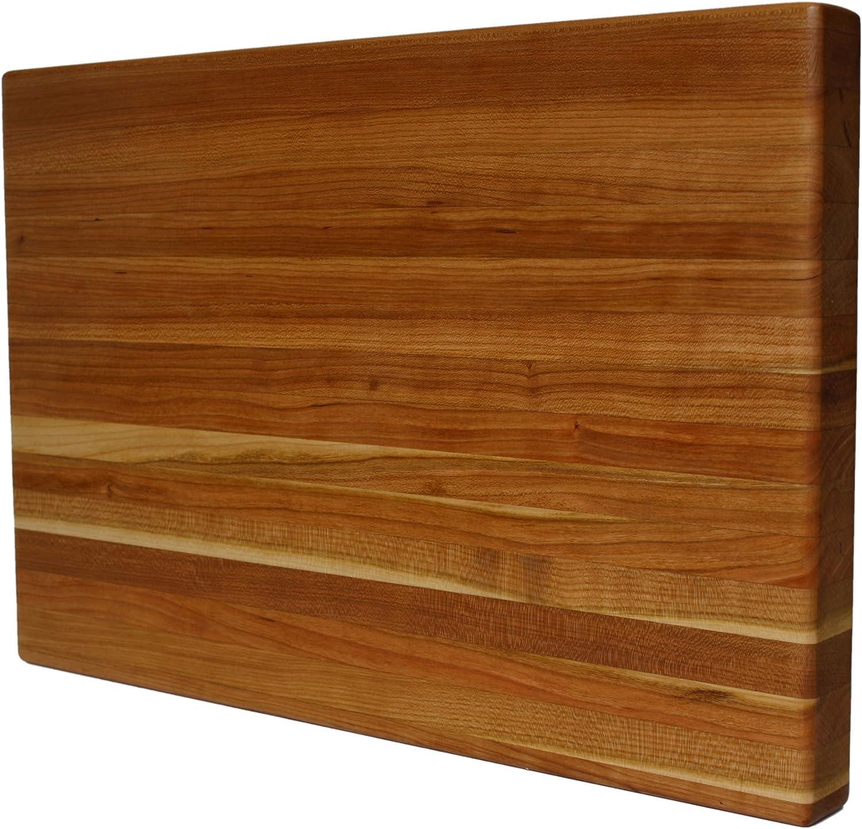 Kobi Blocks Cherry Edge Grain Overseas parallel import regular item Butcher Wood Cutting 2 Block Board Price reduction