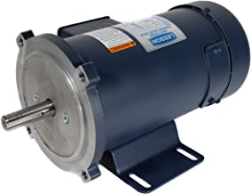 Leeson 108047.00 Low Voltage DC Motor, 56C Frame, C-Face Rigid Mounting, 1/2HP, 1800 RPM, 12V Voltage