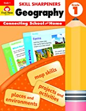 Evan-Moor Skill Sharpeners: Geography, Grade 1 Activity Book - Supplemental At-Home Resource Geography Skills Workbook