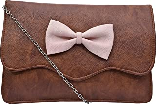 Fristo Women Slingbag(FRSB-142) Brown and Pink