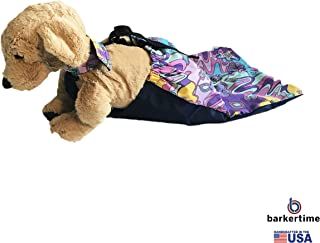 Barkertime - Made in USA - Mystic Flower on Purple Dog Drag Bag for Paralyzed Pets