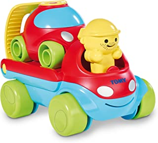 Tomy Toomies Fix And Load Tow Truck - Rescue Play Wind Up Toy Vehicles - Suitable From 1 Year, Multi Color, E72422