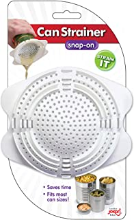 Can Colander Strainer (4 Pack), Best for Canned Tuna, Vegetables & Fruit, Easy Fit Food Strainers for Clean Food Preparation, Kitchen Gadget that is Fun & Practical For No Messes