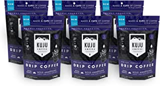 Kuju Coffee Premium Single-Serve Pour Over Coffee | Ethically Sourced, Specialty Grade, Eco-Friendly | Bold Awakening, Dark Roast, 5-packs (6 Count)