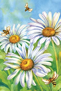 Toland Home Garden 109748 Honey Bees And Daisies 28 x 40 Inch Decorative, House Flag