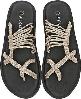 MEGNYA Yoga Mat Flip Flops for Women, Comfortable Foam Sandals for Walking, Anti-Skid and Lightweight Slippers for Beach/H...