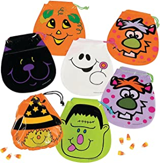Fun Express Drawstring Halloween Goody Bags : Package of 72