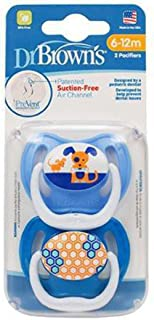 Dr. Brown's 6-12 Months Prevent Butterfly Pacifiers, Stage 2, 2 Pacifiers Per Pack (1 Pack)