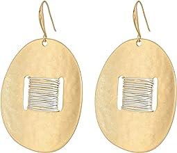 Robert Lee Morris - Two-Tone Wire Wrap Disc Drop Earrings