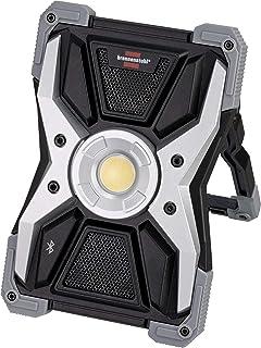 Brennenstuhl Mobiler LED Akku Strahler RUFUS 3010 MA mit Bluetooth Lautsprecher (LED Baustrahler mit Powerbank Funktion, inkl. Ladekabel, Gehäuse aus Aludruckguss, 3000lm, IP65)