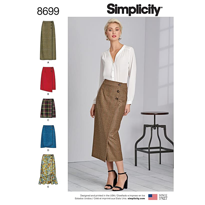 Simplicity Creative Patterns US8699H5 Pattern Misses' Wrap Skirts with Length Variations Skirts & Pants