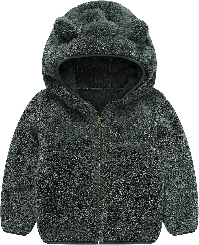 Choice Toddler Girls Boys Fleece Hoody Jacket Coat Warm Sale SALE% OFF Wi Teddy Up Zip
