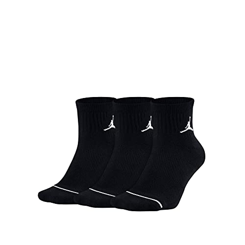 55e61bb76df073 Nike Jordan Jumpman Dri-Fit Quarter Socks 3 Pair SX5544-010 XL 12-