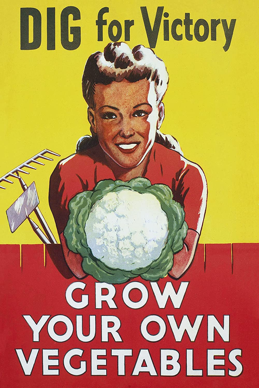 WW2 Propaganda Poster Overseas Fresno Mall parallel import regular item - Dig for Grow Vegetabl Victory Own Your