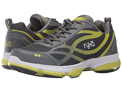 Ryka Devotion XT (Slate Grey/Bright Chartreuse/White) Women