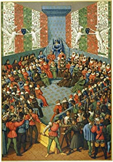 French Court 1458 Nthe Trial For Treason Of Jean Duke Of Alencon Before A Court Of Law Presided Over By King Charles Vii O...