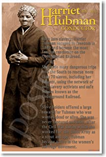 Harriet Tubman Conductor on the Underground Railroad - African American History Poster