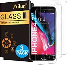 Ailun Screen Protector for iPhone 8,7,6s,6,4.7 Inch 3 Pack 2.5D Edge Tempered Glass Compatible with iPhone 8,7,6s,6 Case Friendly