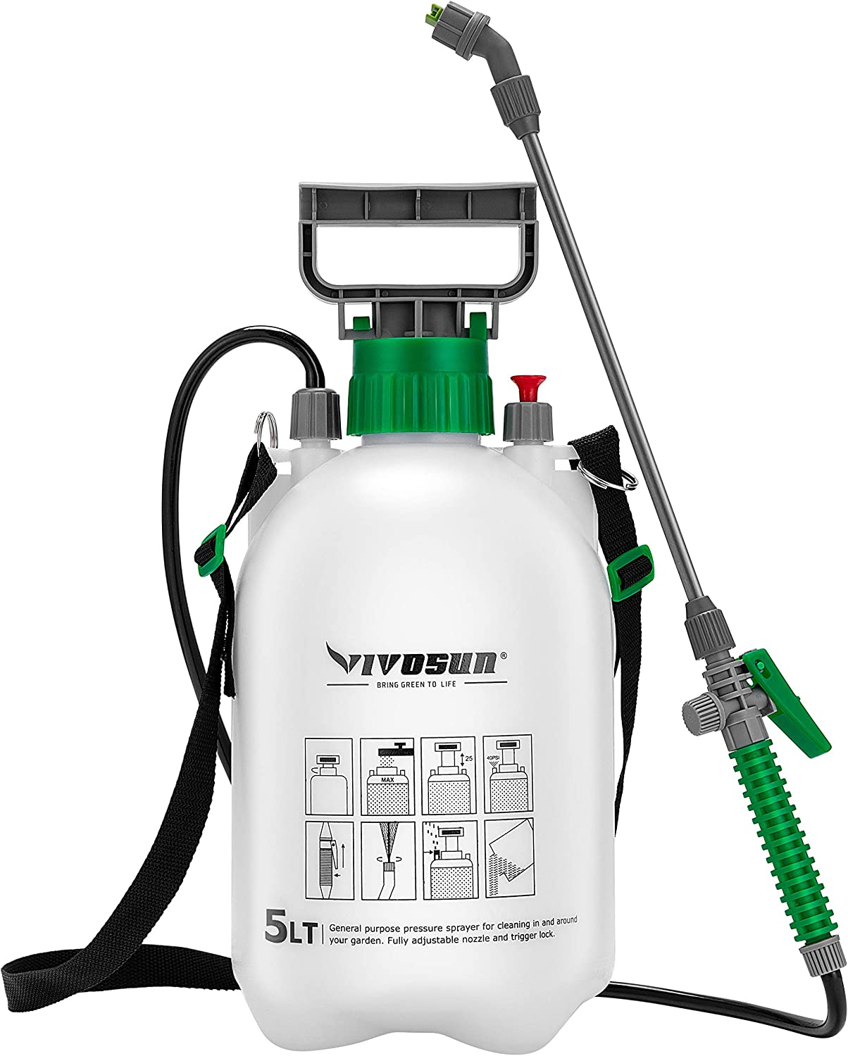 VIVOSUN 1.3 Gallon Lawn and Cheap mail order shopping Garden Sprayer Recommended Pressure 3 Pump with