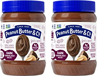 Peanut Butter & Co. Dark Chocolatey Dreams Peanut Butter, Non-GMO Project Verified, Gluten Free, Vegan, 16 Ounce (Pack of 2)