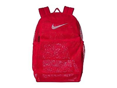 Nike Brasilia Mesh Backpack 9.0 (University Red/University Red/White) Backpack Bags